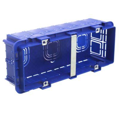 Caja de embutir 2 x 8 cm para 6 módulos