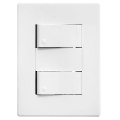 Conjunto dos interruptores con plaqueta blanco Halux