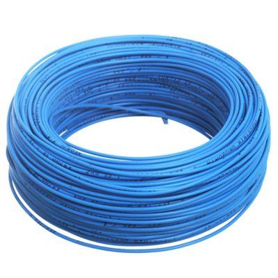 Cable unipolar 1 mm x 100 m celeste