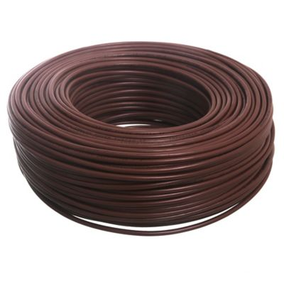 Cable unipolar 4 mm x 100 m marrón