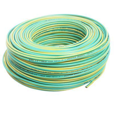Cable unipolar 4 mm x 100 m verde y amarillo