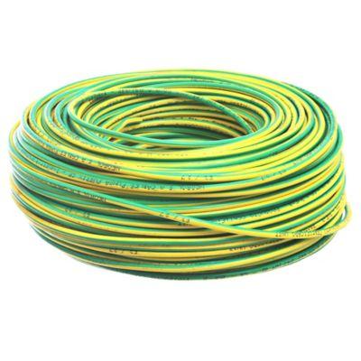Cable unipolar 6 mm x 100 m verde y amarillo