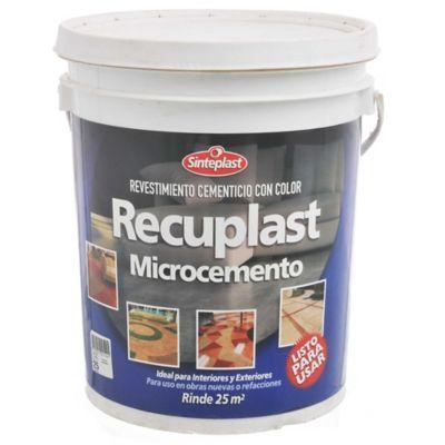 Revestimiento Recuplast Microcemento verde cemento 25 kg