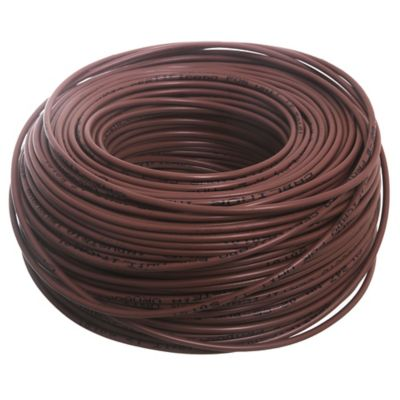 Cable unipolar 2 mm x 100 m marrón