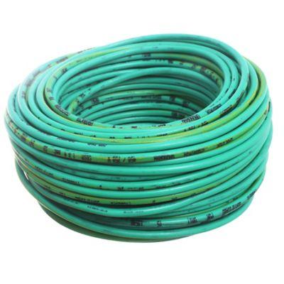 Cable unipolar 4 mm2 verde y amarillo x 30 m