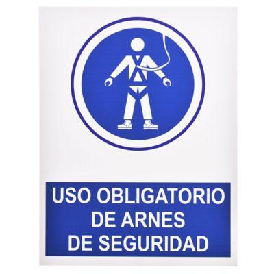 Cartel obligatorio Arnés 40 x 30 cm