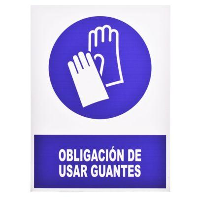 Cartel Obligatorio uso de Guantes 40 x 30 cm