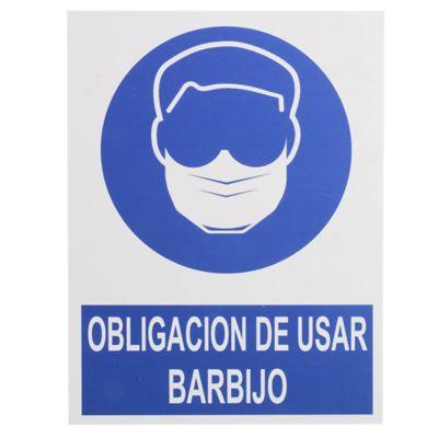 Cartel obligatorio Barbijo 40 x 30 cm
