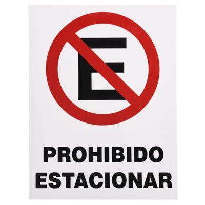 Cartel prohibido estacionar 40 x 30 cm