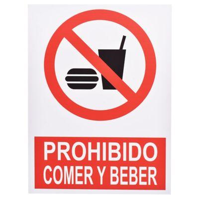 Cartel prohibido Comer 40 x 30 cm
