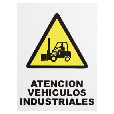 Cartel atención vehículos  40 x 30 cm