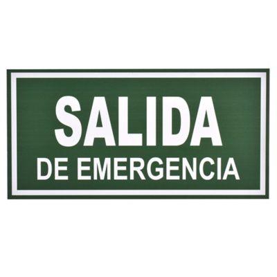 Cartel evacuar salida de emergencia 30 x 15 cm