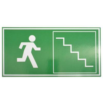 Cartel evacuar escalera 30 x 15 cm