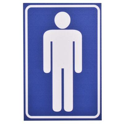 Cartel baño de hombre 15 x 10 cm