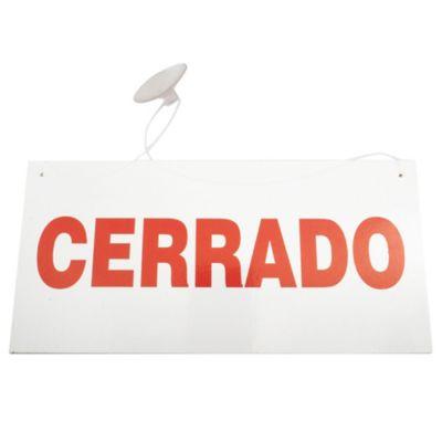 Cartel abierto/cerrado 30 x 25 cm