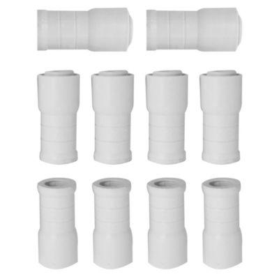 Unión 20 mm tubo-caño corrugado 10 unidades