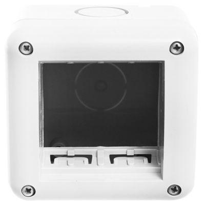 Caja exterior 2 módulos para tubo rígido gris