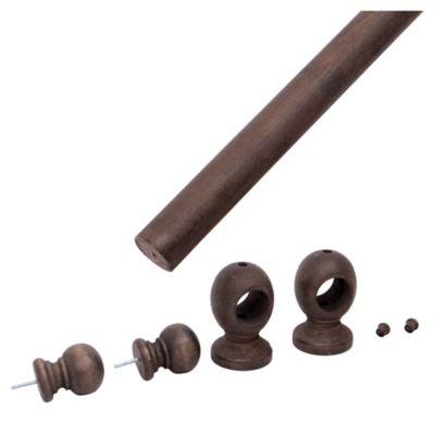 Set barrote 35 mm Nogal x 180 cm