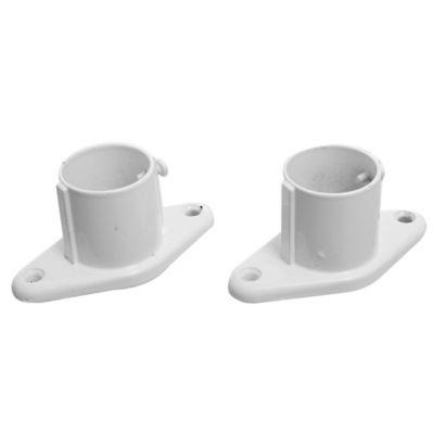 Pack de 2 soportes para barral de baño lateral curvo