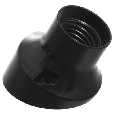 Receptáculo Curvo E27 Negro