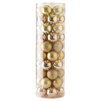 Set de 50 esferas 6 cm dorado
