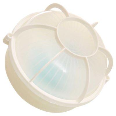 Tortuga plástica redonda blanca
