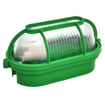 Tortuga plástico y vidrio oval verde
