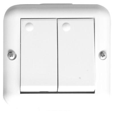 Caja exterior 2 módulos con dos interruptores unipolares Halux