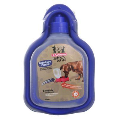 Bebedero portátil para mascotas azul 330 ml