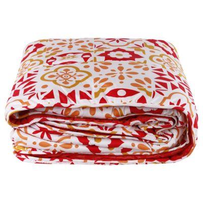 Plumón y juego de sábanas Alhambra Red 1,5 plazas