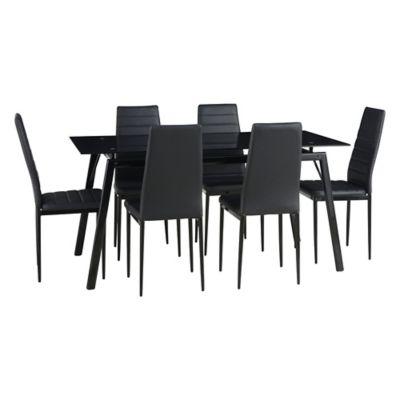 Juego de comedor Dartagnan 1 mesa y 6 sillas