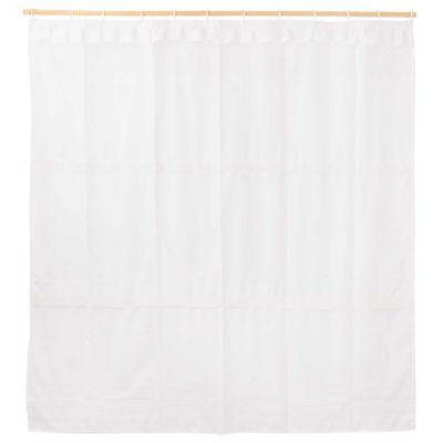 Cortina de tela con forro blanco 180 x 180 cm