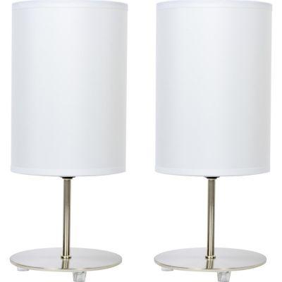Pack de 2 lámparas de mesa tubo E27