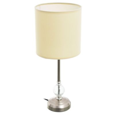Lámpara de mesa Firenze de tela beige 1 luz