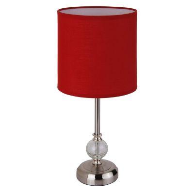 Lámpara de mesa tela roja Firenze 1 luz E27