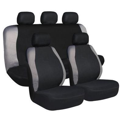 Fundas para asientos negro y gris