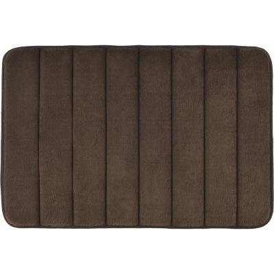 Alfombra de baño 40 x 60 cm chocolate