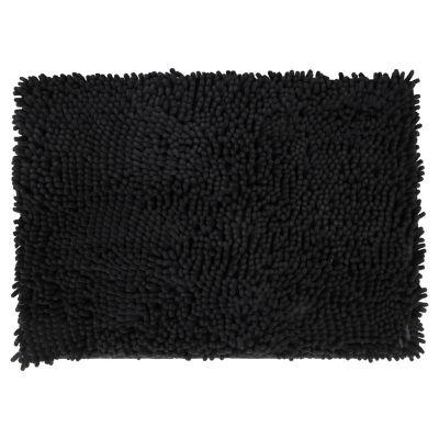 Alfombra de baño Elite 43 x 61 cm negra