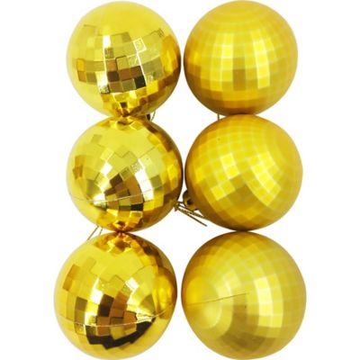 Set de 12 esferas 6 cm dorado diamante