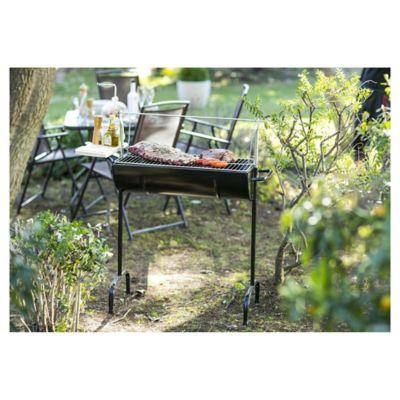Parrilla a carbón medio tambor con mesa