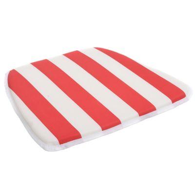 Almohadón para silla 35.6 x 40.6 cm rayas rojo y blanco