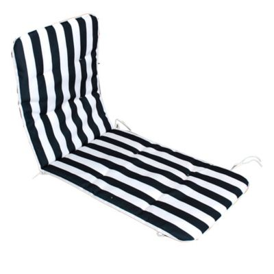 Almohadón para reposera 52 x 119 x 6 cm rayas azul y blanco