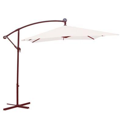 Sombrilla lateral rectangular con luz 200 x 300 cm natural