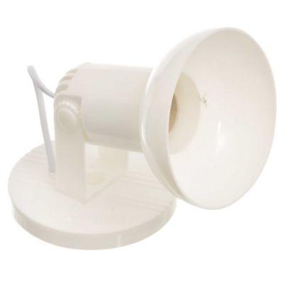Spot plástico con pantalla Blanco 1 luz