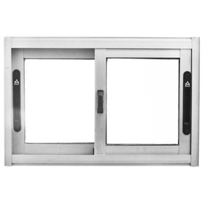 Ventana de aluminio Anodizado S20 gris 60 x 40 cm