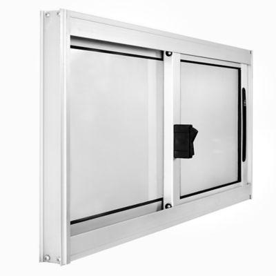 Ventana de aluminio Anodizado Prem gris 80 x 40 cm