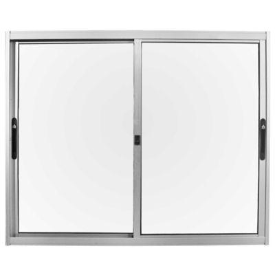Ventana de aluminio Anodizado Prem gris 120 x 100 cm