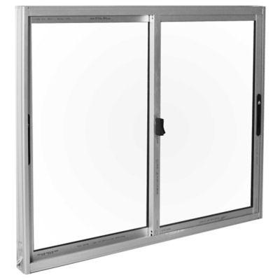Ventana de aluminio Anodizado S20 gris 120 x 100 cm