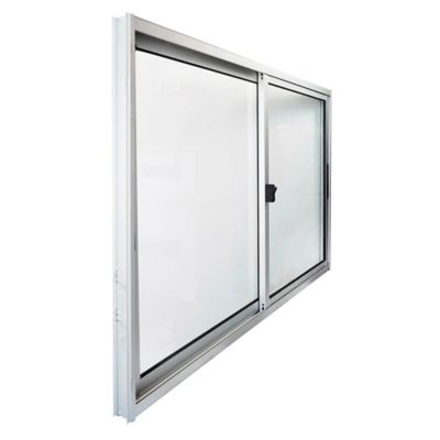 Ventana de aluminio Anodizado S20 gris 150 x 100 cm