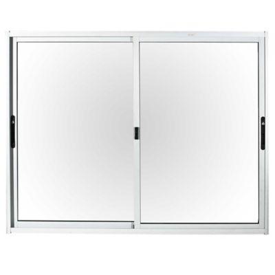Ventana de aluminio Anodizado S20 gris 150 x 120 cm